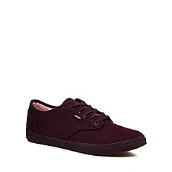 Vans - Purple canvas 'Atwood' lace up shoes