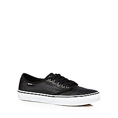 Vans - Black leather 'Camden Deluxe' trainers
