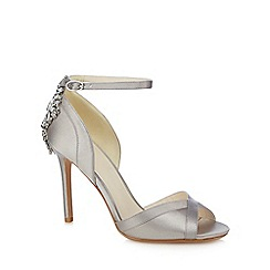 No. 1 Jenny Packham - Silver 'Picnic' high stiletto heel ankle strap sandals