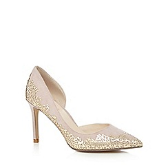 No. 1 Jenny Packham - Light pink suede 'Prima' high stiletto heel pointed shoes