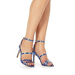 Faith - Blue 'Disco' high stiletto heel ankle strap sandals