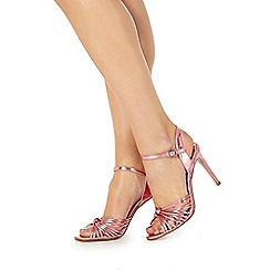 Faith - Pink 'Dusty' high stiletto heel ankle strap sandals