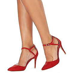 Faith - Red 'Cece' high stiletto heel wide fit pointed shoes