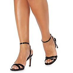 Faith - Black 'Dodo' high stiletto heel ankle strap sandals