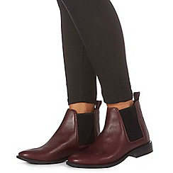 Faith - Dark red leather 'Binky' Chelsea boots