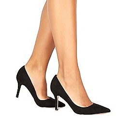 Faith - Black 'Chariot' high stiletto heel pointed shoes