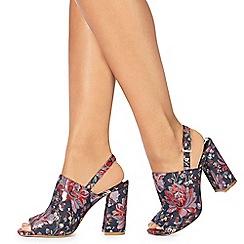 Faith - Multi-coloured 'Libby' high block heel mules