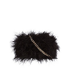 Faith - Black 'Pearl' clutch bag