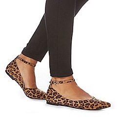 Faith - Leopard print 'Ally' pointed shoes