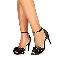 Faith - Black 'Lolo' high stiletto heel ankle strap sandals