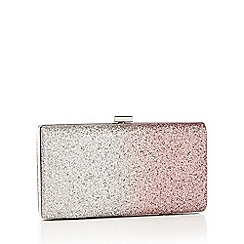 Faith - Multicoloured ombre glitter 'Petra' box clutch bag
