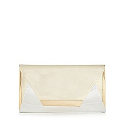 Call It Spring - Gold and silver 'Cronquist' clutch bag