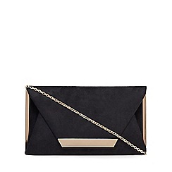 Call It Spring - Black suedette 'Collie' clutch bag