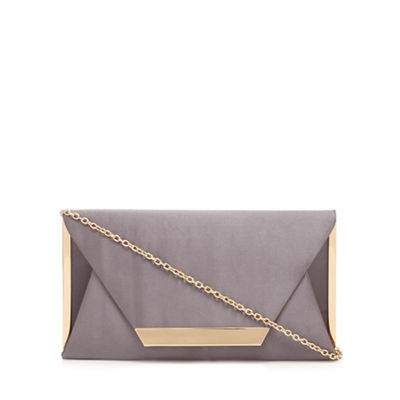 Call It Spring   Grey 'collie' Clutch Bag by Call It Spring
