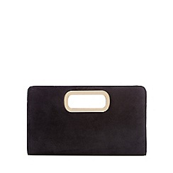 Call It Spring - Black velvet 'Graedda' clutch bag