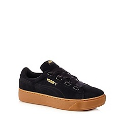 Puma - Black vikky platform ribbon shoes