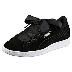 Puma - Black vikky platform trainers