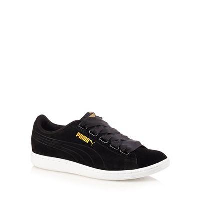 ec55ca7f33c Puma Black vikky ribbon shoes