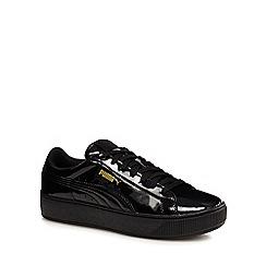 Puma - Black vikky platform patent shoes