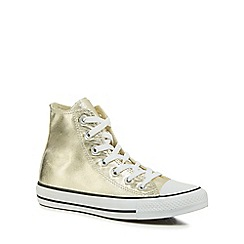 Converse - Light gold 'Chuck Taylor All Star' hi-top trainers