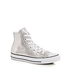 Converse - Silver 'Ctas' high tops