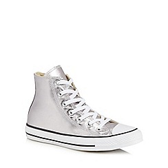 Converse - Silver 'Ctas' high tops trainers