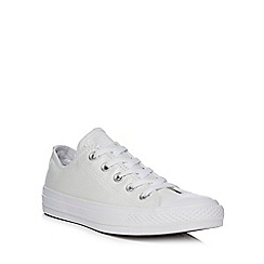 Converse - White canvas 'All Star' lace up shoes
