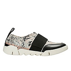 Clarks - Light grey 'Tri Gardenia' women's trainers