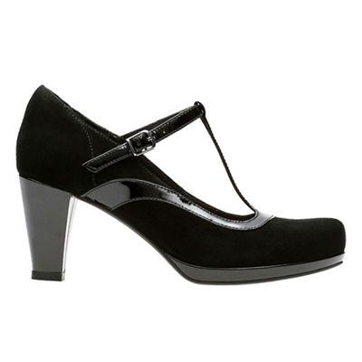 Clarks - Black combi 'Chorus Pitch' T-bar shoes