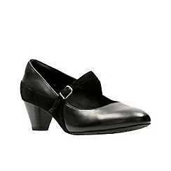 Clarks - Black leather 'Denny Bradford' shoes