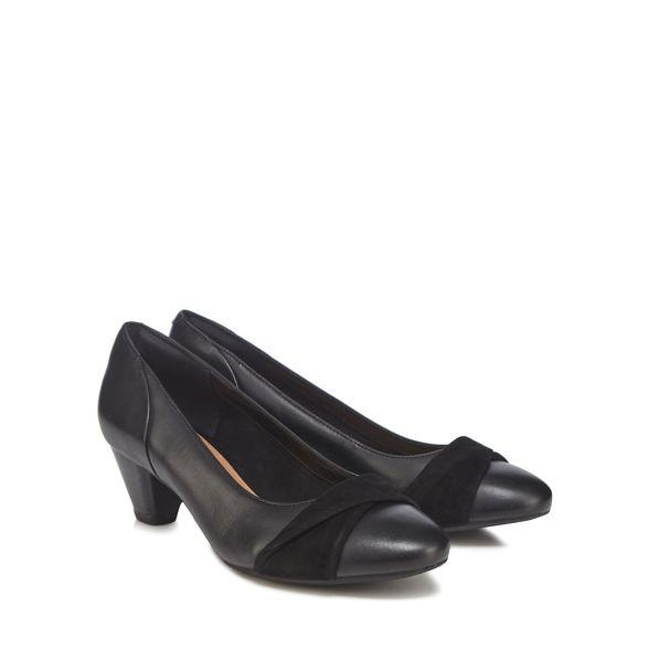 Black court shoes Louise' 'Denny Clarks combi FaqRRf
