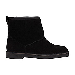 Clarks - Black suede 'Drafty Day' ankle boots
