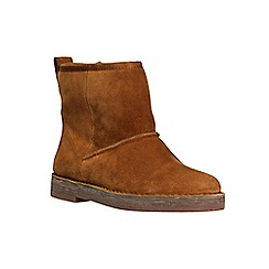Clarks - Tan suede 'Drafty Day' ankle boots
