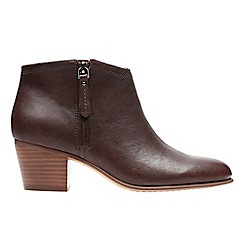 Clarks - Mahogany leather 'maypearl alice' ankle boots