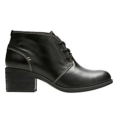 Clarks - Black 'Maypearl Flora' ankle boots