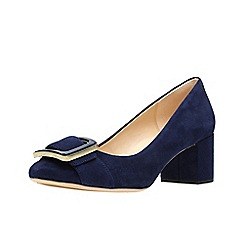 Clarks - Navy suede 'Orabella Fame' court shoes