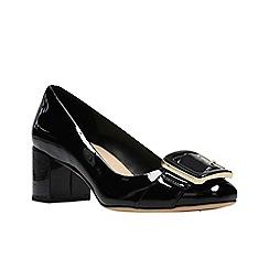 Clarks - Black patent 'Orabella Fame' court shoes