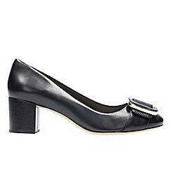 Clarks - Black leather 'orabella fern' t-bar shoes