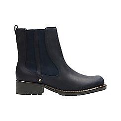 Clarks - Navy nubuck 'orinoco club' ankle boots