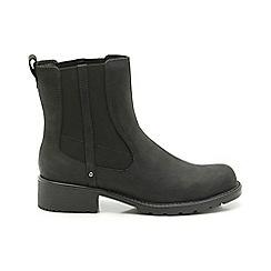 Clarks - Black leather 'ORINOCO CLUB' chelsea boots
