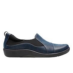 Clarks - Navy 'Sillian Paz' Slip-on trainers