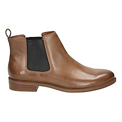 Clarks - Tan leather 'Taylor Shine' Chelsea boots