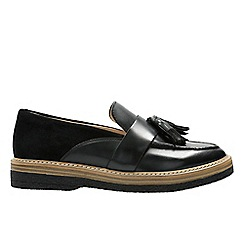 Clarks - Black 'Zante Spring' loafers