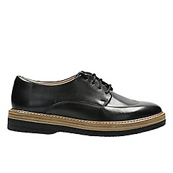 Clarks - Black Leather 'Zante Zara' Lace-up shoes