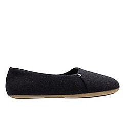 Clarks - Dark grey 'Cozily snug' women's slippers