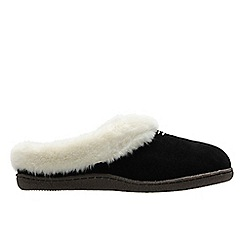 Clarks - Black 'Home classic' womens slippers
