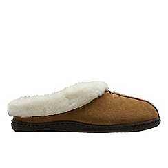 Clarks - Tan 'Home Classic' women's slippers