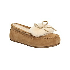 Clarks - Tan 'Warm Galmour' slippers