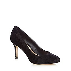 Call It Spring - Black velvet 'Tukums' high stiletto heel court shoes