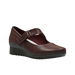 Clarks - Dark red 'Caddell yale' shoes